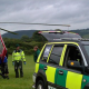 Ambulance Van and Helicopter