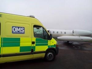 Ambulance and Aeroplane